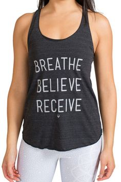 d133d73b6cedb BREATHE BELIEVE RECEIVE - Yoga Tank Top Silhouette