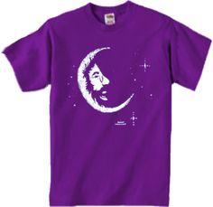 7f2c6a281 Jerry Garcia---Crescent Moon Kid's T-Shirt Moon Child, Grateful Dead