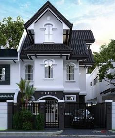 Design my house exterior dream house design my dream house dream houses my house exterior homes . design my house exterior White Exterior Houses, White Houses, Exterior Homes, Big Houses, Dream Houses, Dream Home Design, Modern House Design, Style At Home, Double Storey House
