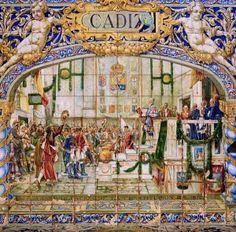 Azulejos de las cortes de Cádiz