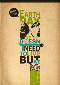As creatives, many of us have shown support on environmental awareness and protection through cool posters, typography, logo design and drawings celebrating Earth Day. Description from youthedesigner.com. I searched for this on bing.com/images