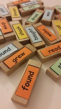 Irregular Verbs. Teach irregular verbs with Jenga and Have Fun!
