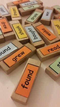 Irregular Verbs. Teach irregular verbs with Jenga and Have Fun!