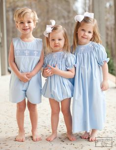 Southern Tots - Southern Tots Blue Cross Smocked Bubble, $36.00 (http://www.southerntots.com/southern-tots-blue-cross-smocked-bubble/)