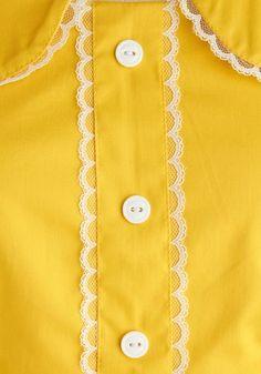 Yellow shirt top blouse