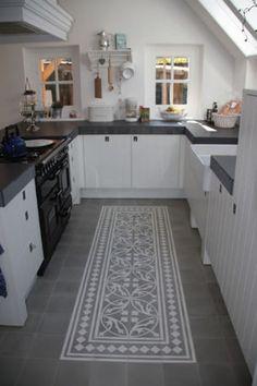 Een portuguese tegelvloer maakt je keuken bijzonder - prachtig!