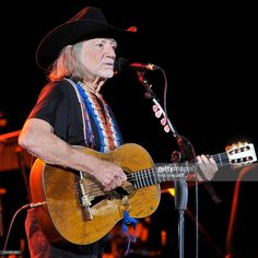 American country singer-songwriter, author, poet, actor and activist Willie Nelson performs on stage at HMV Hammersmith Apollo on June 11, 2010 in London, England.