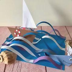 Crafts for kids - Best 9 Email aurora smit Outlook Summer Crafts, Summer Art, Summer Kids, Sea Crafts, Fish Crafts, Diy For Kids, Crafts For Kids, Diy Paper, Paper Crafts