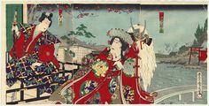 Princess Yaegaki and the Magic Battle Helmet, 1888 by Kunichika