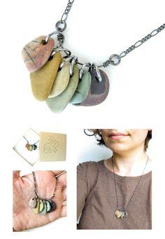 Rainbow rainbow :) Rainbow Rocks necklace (all natural river rocks!!)  ((on my new website!!)