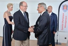 Princess Charlene and Prince Albert met with Olympics athletes