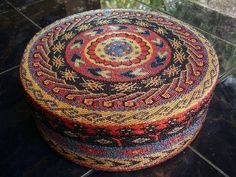 stunning Bali beaded basket