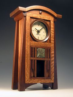 gorgeous mission-style clock