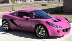 Pink Lotus Elise- I'd deff drive it! Wouldn't you?