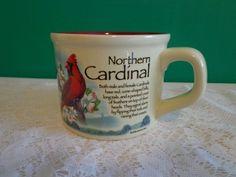 Northern Cardinal Coffee Cup Soup Mug Ideaman Inc Birds Nature Outdoors