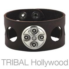 ALPHA leather wrist cuff by Bico Australia. This leather bracelet has stunning decorative metal work on the top revealing a three dimensional tribal design. Open circles in the leather band add unique style to the sides. Fish Hook Necklace, Men Necklace, Bracelets For Men, Cuff Bracelets, Leather Bracelets, Cool Rings For Men, Mens Designer Jewelry, Leather Cuffs, Hollywood