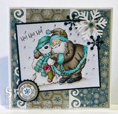 L'étampe du mois par Sophie Christmas Ideas, Christmas Cards, Art Impressions, Scrapbooking Ideas, Creations, Greeting Cards, Boutique, Simple, Frame
