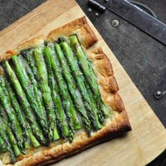 Gruyere and Asparagus Tart!  Find me some Purple Asparagus and now we are talking!!!!!