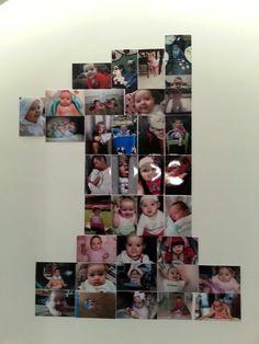 1st birthday collage