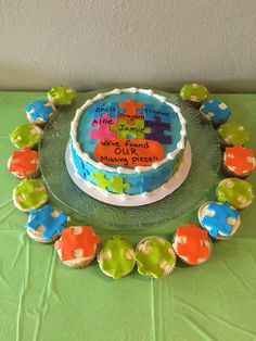 Adoption party cake