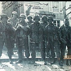 The Real Band of Brothers from June 6, 1944 in Ste Laurent Sur Mere France.