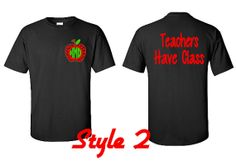 Chevron Monogram Apple Shirt Teacher Gift Teacher by VinylDezignz, $25.95