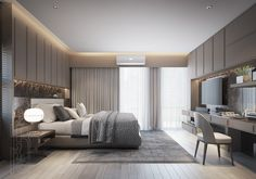 Modern Luxury Bedroom, Modern Master Bedroom, Modern Bedroom Design, Master Bedroom Design, Luxury Decor, Luxurious Bedrooms, Condo Interior Design, Home Room Design, Apartment Interior