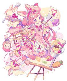 夢ノ内 (@yume335) | Twitter Manga Kawaii, Arte Do Kawaii, Kawaii Art, Kawaii Anime Girl, Anime Art Girl, Cute Art Styles, Cartoon Art Styles, Anime Chibi, Persona Anime