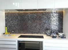 Bisazza Iside Mosaic Splashback - 47 Capriana Dr, Karaka contemporary tile