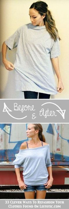 Repurpose those old oversized tshirts into something adorable ~ 33 Clever Ways To Refashion Your Clothes