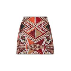 TopShop Petite Embroidered Jacquard Skirt ($51) ❤ liked on Polyvore featuring skirts, multi, floral print a-line skirt, high waisted a line skirt, topshop, high-waisted skirts and red a line skirt
