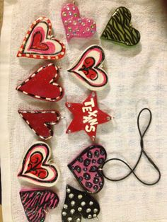 Valentine Clay pendants.