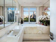 Bath tub with a view.