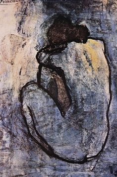 Blue Nude, by Pablo Picasso. Picasso was inspired by women.I am inspired by women.I am Picasso! Pablo Picasso, Kunst Picasso, Art Picasso, Picasso Blue, Picasso Paintings, Picasso Prints, Georges Braque, Art Moderne, Life Drawing