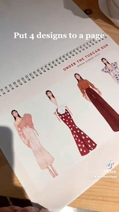 Fashion Design Portfolios, Fashion Design Books, Fashion Design Sketchbook, Fashion Themes, Fashion Design Drawings, Fashion Books, Fashion Sketches, Fashion Illustration Portfolio, Fashion Portfolio Layout