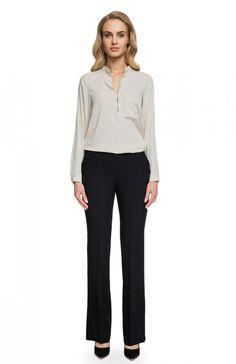 3dcaf102a48b1 Style S086 spodnie czarne - Spodnie damskie - Elegancka odzież damska - MODA  DAMSKA - Sklep internetowy