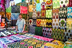 Traditional Atlas silk from Uzbekistan.  I think I'd have to buy it all!