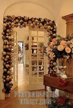 Image detail for -... living room doorway decorated with christmas stock photo pd1898740.jpg