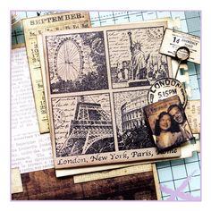 Crafty Individuals CI-228 - 'Iconic World Views' Art Rubber Stamp, 85mm x 90mm - Crafty Individuals from Crafty Individuals UK