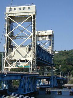 Portage Lake Lift Bridge Elevated - Portage Lake Lift Bridge - Wikipedia, the free encyclopedia