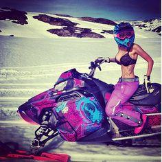 Sweet wrap! Norwegian snowmobile freerider Maria Sandberg. #snowmobiling http://www.reflexsnowmobiling.com/snowmobiling-blog/entry/sled-chicks-vol-1-21-photos-1