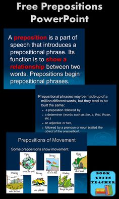 Free Prepositions PowerPoint