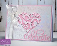 Wedding or anniversary card made using the Sara Signatire Together Forever  collection from #crafterscompanion