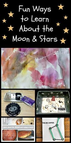 Creative ways to teach kids about moons and stars Planets Activities, Preschool Science Activities, Science Week, Painting Activities, Activities For Kids, Science Fun, Science Ideas, Learning Activities, Solar Eclipse Facts