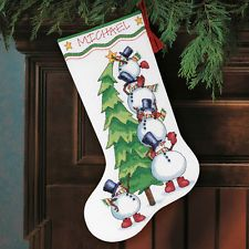 Dimensions D08820 Trimming The Tree Christmas Stocking Counted Cross Stitch Kit