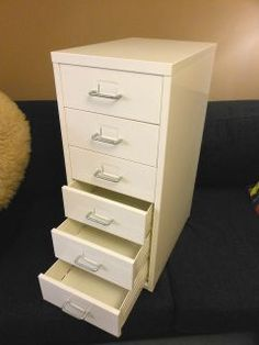 IKEA HELMER Drawer unit WHITE home office pedestal mobile storage