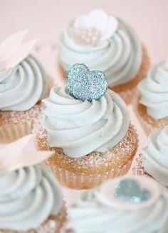 It doesn't get sweeter then cupcakes gleaming with glitter. 10 Sensational Sparkling Wedding Dessert Ideas