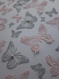 esprit vlinders pastel roze | behang meisjes kamer | pinterest, Deco ideeën