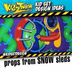 props from plastic snow sleds. we always keep a couple in the shop, cuz ya never know... be on the lookout for the unique styles that come out every year. Share your tips tricks & ideas: #kidsetdesign #kidmin - INSTAGRAM VIDEO - (click to play) -   for full description follow the Instagram Link -