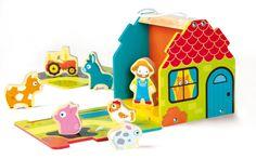Houten boerderijset // House Of Toys - Toddler Farm Set